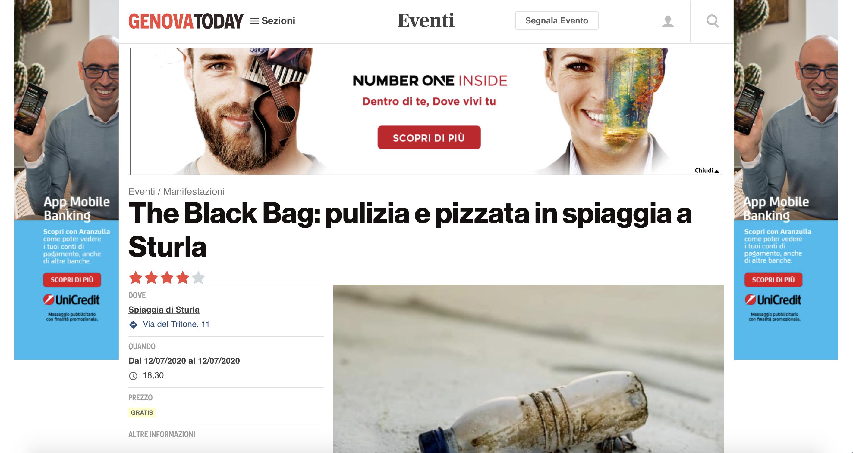 Articolo che racconta di The Black Bag