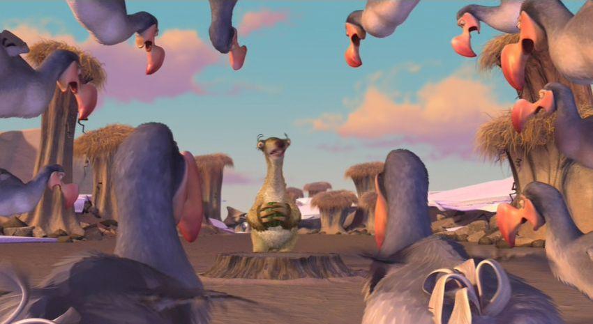"""I Dodo in una scena del film """"L'Era Glaciale"""""""